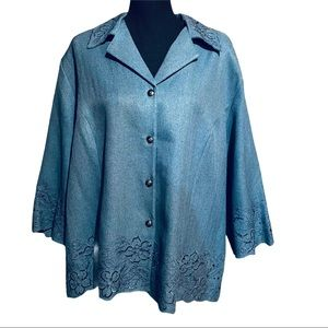NWT Alfred Dunner Floral Lace Jacket Blazer 20W